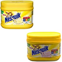 Nesquik Strawberry and Banana Flavour Bundle   Enjoy These Classic Flavours with Your Milk   1x300g Strawberry Tub and 1x300g Banana Flavour Tub   Total of 2 x 300g Tubs