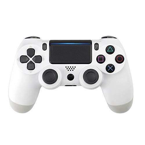 GUO PS4 Controller Der vierte Generation PS4-Controller Ergonomischer drahtloser Bluetooth Spiel-Controller verfügt über LED-Beleuchtung und Vibration Funktionen (Color : White, Size : Button B)