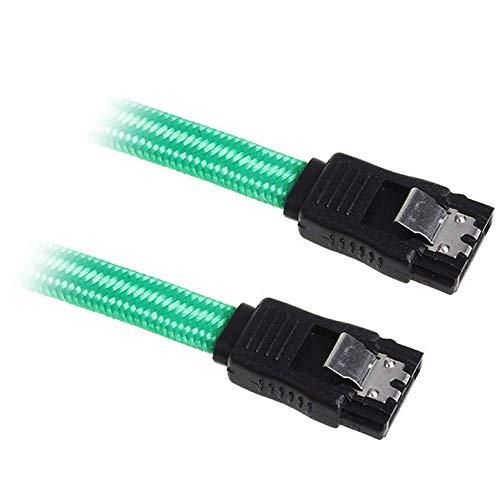 BitFenix SATA III Kabel (30 cm, Sleeved) grün/schwarz