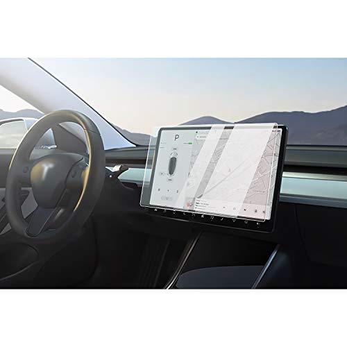 CDEFG Tesla Model 3 2018-2021 Car Navigation Temperato Glass Pellicola in Vetro Protettiva 9H Scratch Resistant Anti-Fingerprint GPS Proteggi Schermo Trasparente Screen Protector (15 Inches HD)