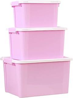 YUANP Bacs De Rangement en Plastique Boîte Empilable en Plastique pour Armoire Placard Organisateur D'étagères avec Poigné...