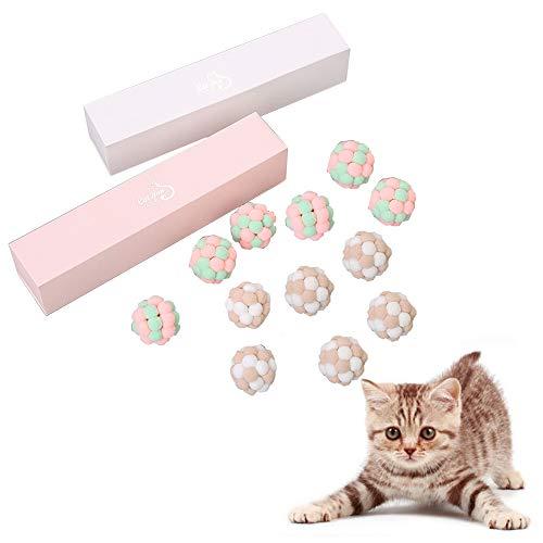 HANPIN-PETS Atomic Flummi jonglieren Haustier Katze Farbe Glöckchen Ball prallt 6 eine Schachtel mit Farbenkasten + Schrumpffolienverpackung (gelegentliche Farbe)