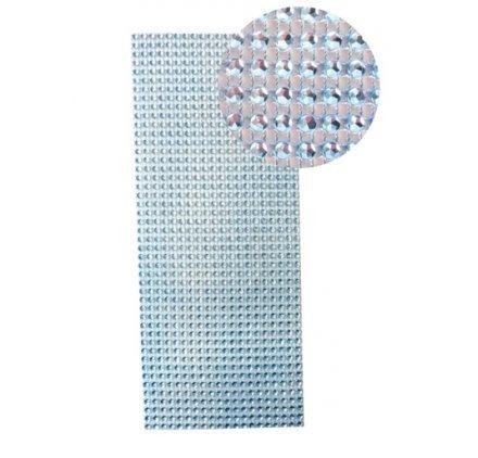Plaque de strass adhésive 10 x 25 cm Bleu - Graine créative
