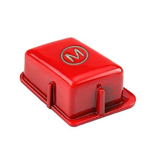 Auto Lenkrad Tastenfeld Abdeckung, Lenkrad für Fahrzeuglenkrad M für 3er-Reihe E90 E92 E93 M3 2007-2013(Red)