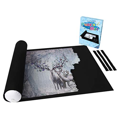 Lavievert Giant Felt Mat for Puzzle Storage Puzzle Saver, Jigsaw Puzzle Roll Mat for up to 3000-piece Puzzles