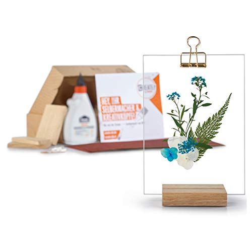 CREATE! by OBI DIY Bilderrahmen, klein (20,8 cm x 13 cm x 6,5 cm)   Dekorativer Rahmen aus Glas und Holz zum Selberbauen (Hinweis: Farbe im Set Nicht enthalten)