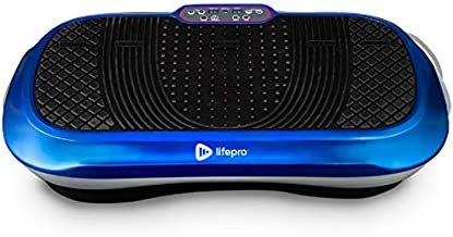 LifePro Vibration Plate Exercise Machine - Whole Body Workout Vibration Fitness Platform w/Loop Bands - Home Training Equipment for Weight Loss & Toning - Remote, Balance Straps, Videos & Manual