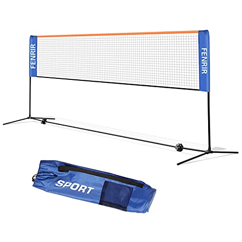 FENRIR Badminton Netz Tennisnetz 5m Tragbares Volleyball mit Verstellbaren Höhen faltbares Federballnetz Outdoor Trainingsnetz,3 Höhe: 85/120/155cm