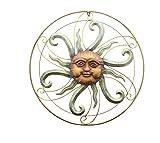 Dekofigur Wandbild Sonne aus Metall 55 cm groß Gartendeko Sonne Wanddeko aus Metall Wandhänger Reliefbild