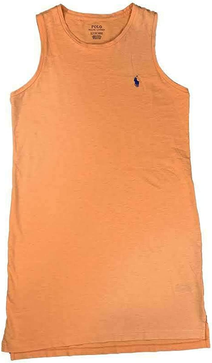 Ralph Lauren Polo Women's Solid Cotton Dress Orange