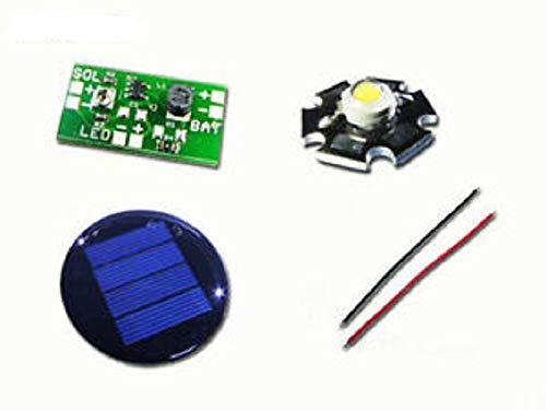 Solar-Leuchten Tuning-Kit Bausatz für 1,2V Akku Solar Leuchten LED warmweiss 100mA runde Solarzelle