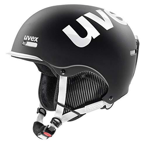 Uvex hlmt 50, Black-White mat, 52-55 cm | Skihelm Snowboard-Helm Freeride-Helm | Kinder Damen Herren | anpassbar