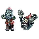SDASF 2 Pcs Resin Zombie Gnomes Garden Gnomes Garden Decor, for Garden Sculptures & Statues Outdoor Decorations for Patio Walking Dead Gnome