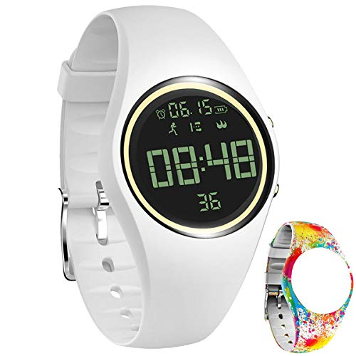 feifuns 3D Non-Bluetooth Pedometer Watch Sport Wristband IP68 Swimming Water-Resistant Fitness Tracker with Accurately Track Steps/Distance/Calorie/Clock/Timer for Walking Running Kids Men Women
