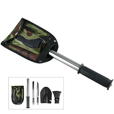 9milelake Ultimate Survival Emergency Camping Hiking Knife Shovel Axe Saw Gear Kit Tools