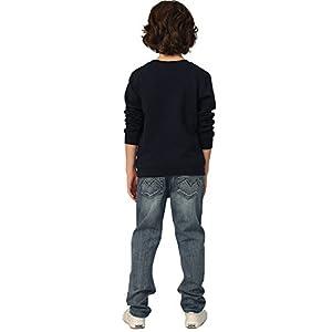 Boys' Kids' Elastic Waist Husky Stretch Denim Jean