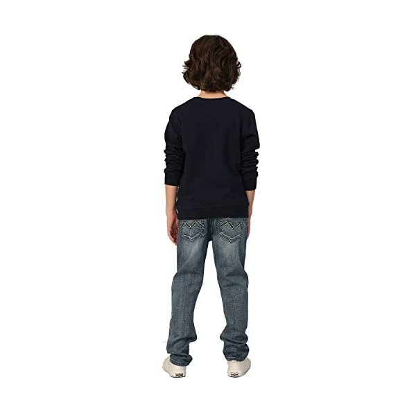 Leo/&Lily Boys Kids Elastic Waist Husky Stretch Denim Jean LLB6A04