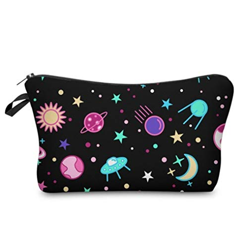 Yhhzw Galaxy Cosmetic Bag Wasserdichter Druck Morden Space Beauty Case Farbe Tragbar