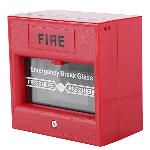 Rotura de cristal Botón de emergencia de protección contra incendios, 3A @ 36VDC Máx. Botón de emergencia del equipo de seguridad, para puertas de salida puertas de emergencia