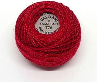 Valdani Perle Cotton Size 8 Embroidery Thread, 72 Yard Ball - 775 Turkey Red