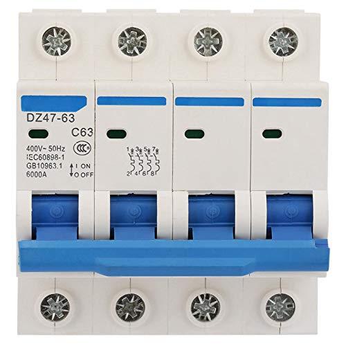 Interruptor de protección contra fugas, interruptor de protección de corriente, protección contra fugas de aire, DZ47-63 para la construcción de tecnología de transformación de red rural.