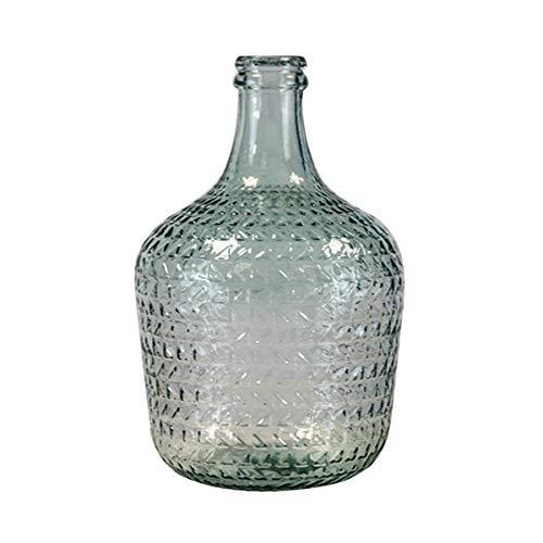 Garrafa Relieve 12L Vidrio Reciclado (Transparente)