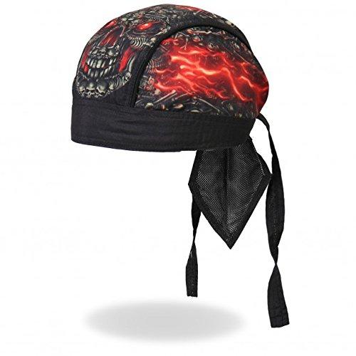 Authentic Bikers Premium Headwraps, SKULL MADE OF SKULLS - High Quality Micro-Fiber & Mesh Lining HEADWRAP