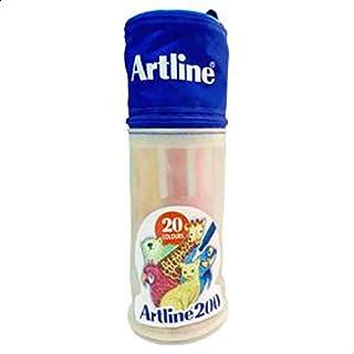 حقيبة اقلام أرتلاين فتيلة رقم 200 مقاس 0.4 ملم حقيبة 20 قلم ملون للاطفال