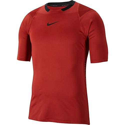 NIKE Camiseta para Hombre Aeroadapt NPC, Hombre, Camiseta, BV5510, Color Rojo y Negro, Large