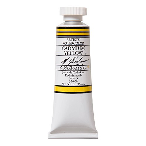 M. Graham 1/2-Ounce Tube Watercolor Paint, Cadmium Yellow