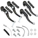 N-D Pastillas de freno V-Brake para bicicleta, zapatas de freno – 1 para alto rendimiento de frenado, juego de piezas de repuesto para bicicleta de montaña