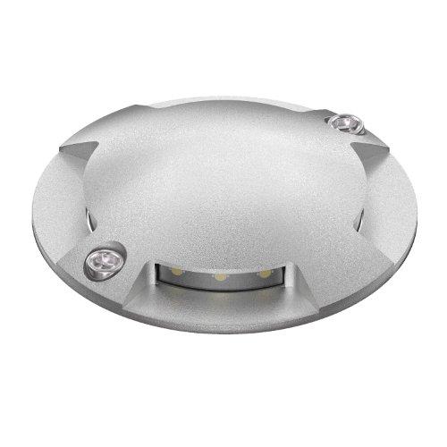 ledscom.de Lampadaire à LED BUNDA, 4 lampes, pour l'extérieur, praticable, blanc froid