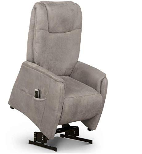 Cavadore TV-Sessel Mamby elektrisch mit Aufstehhilfe + 2 Motoren zur Verstellung der Rückenlehne + Fußstütze / Ergonomie M / Belastbar bis 130 kg / 69 x...