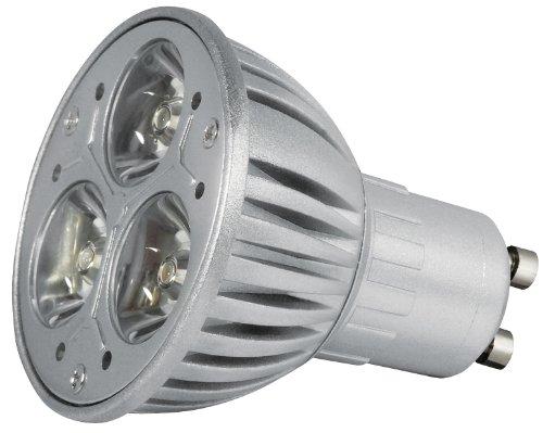 Transmedia LP2-33SQL Power Spot LED 230 V 3,5 W GU10 Blanc Chaud