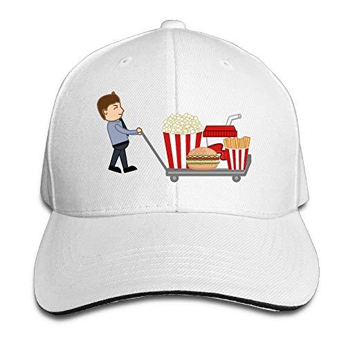 IMERIOi Hamburger Pommes Frites Cola Popcorn Baumwolle verstellbare Spitze Baseballkappe Erwachsene Sandwich Hut