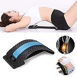 Eudsa Vasd Back Support, Rückenstrecker Rückendehner Rückentrainer gegen Verspannungen (blau + schwarz)
