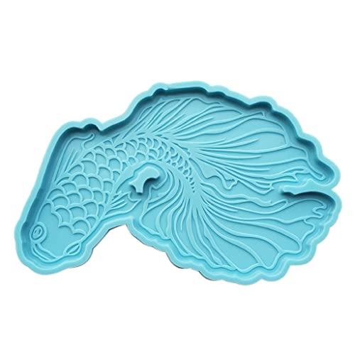 Dedepeng Molde de silicona con forma de bandeja, para manualidades, decoración del hogar