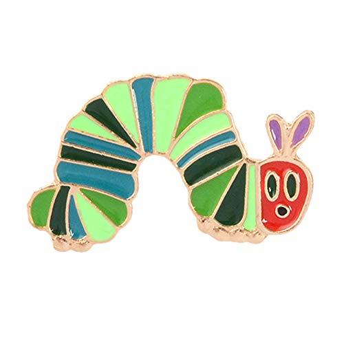 AchidistviQ Broche en émail motif fraise vers de fraise