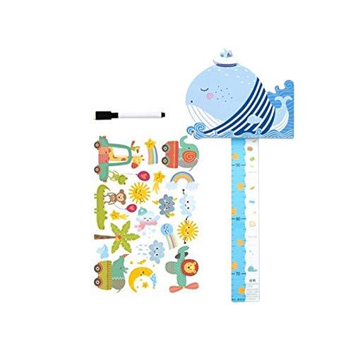 POHOVE Messlatte für Babys, Messlatte, Lineal für Kinderzimmer, Cartoon-3D-Tier-Wandaufkleber, Dekoration für Babys