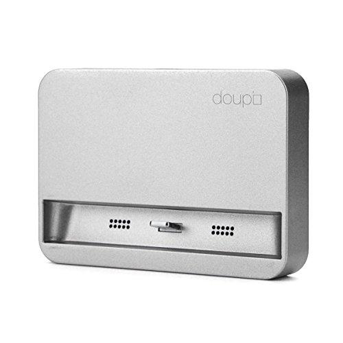 doupi Dockingstation für iPhone X, Xs, Xs Max, Xr, 8/8 Plus, 7/7 Plus, 6 / 6S Plus, 5 5C 5S SE, iPod Halterung zu Laden Datenübertragung [Ladekabel inklusive], Spacegrau