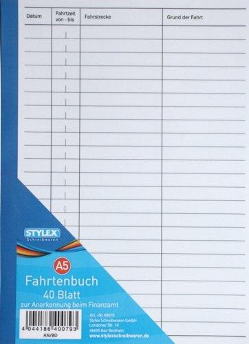 Fahrtenbuch / DIN A5 / 40 Blatt