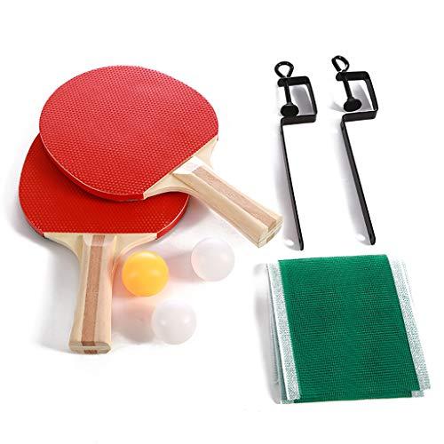 FBGood - Kit di pallet da ping pong retrattile portatile per rete da tennis da tavolo telescopica estensibile, accessori da tennis da tavolo fissati per i giochi interni e da giardino, A
