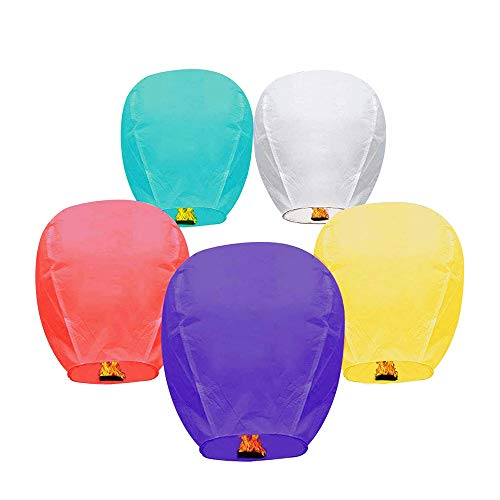 Lomesur 17 Pack Chinese Multicolor Paper Lanterns