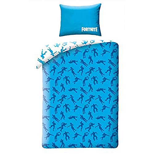 Fortnite Official Single Duvet Cover Shuffle Design Reversible 2 Sided Battle Royale Bedding Duvet Cover with Matching Pillow Case