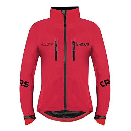 Proviz Womens REFLECT360 CRS Colour Reflective System Cycling Jacket Red 2