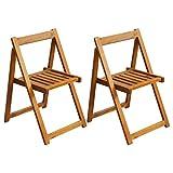 vidaXL Lot de 2 chaises de Jardin Pliantes en Bois d'acacia