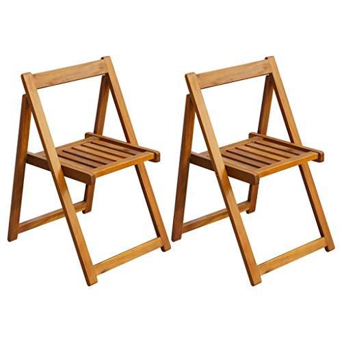 vidaXL Chaise Pliante d'Extérieur Mobilier de Jardin 2 Pièces Bois d'Acacia