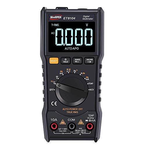 ZYY Pantalla LCD en color de pantalla - Et8104 LCD color de la pantalla de visualización portátil Medida automática del multímetro de AC / DC voltaje de capacitancia Resistencia actual del medidor de