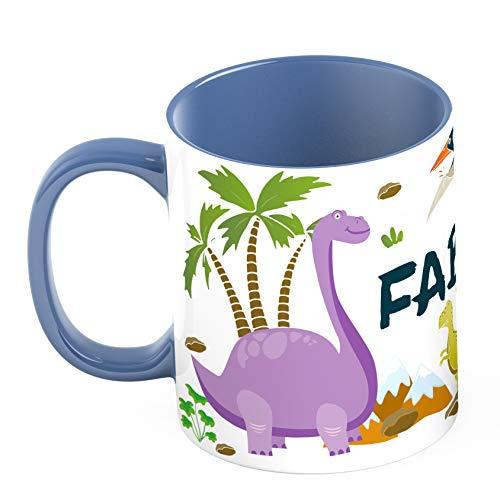Ma2ca® Dinos Kindertasse Becher Tasse Dinosaurier Tasse Becher-innen_cambridgeblau personalisiert