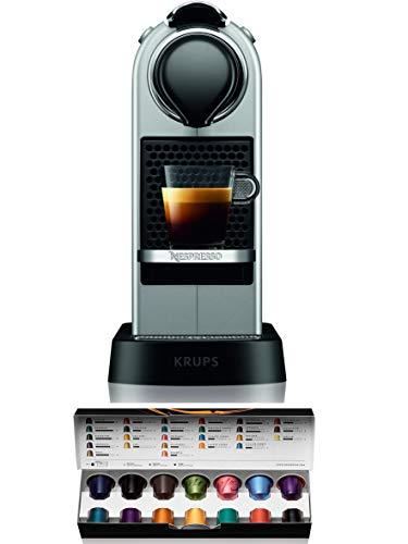 Krups Nespresso XN741B Koffiezetapparaat, Vrijstaande Espressomachine, Zilver, 1 Kop